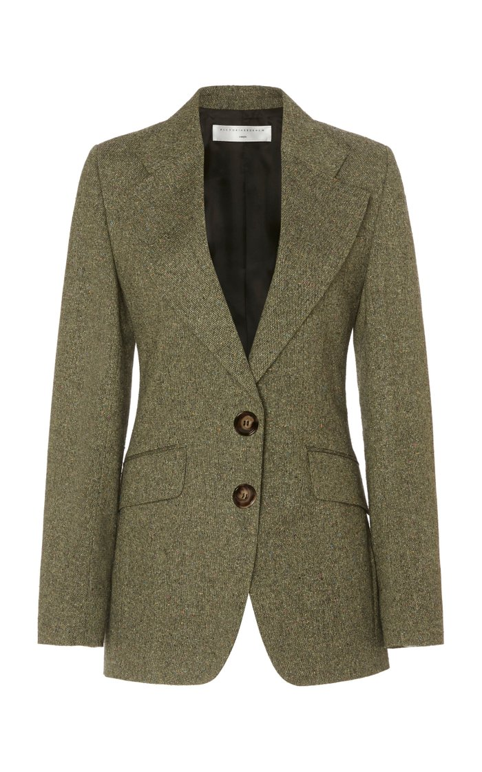 Jarvis Single-Breasted Crepe Blazer