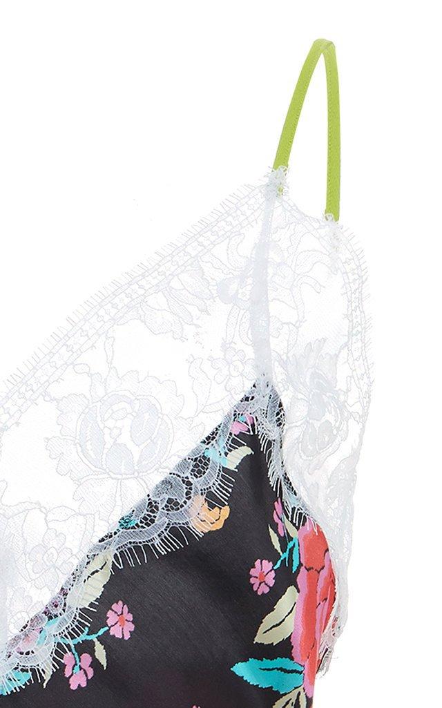 Multi-Print Leavers Lace Crepe Dress
