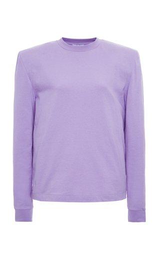 Padded Cotton-Jersey T-Shirt
