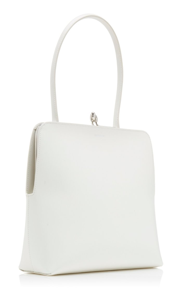 Mini Goji Frame Leather Top Handle Bag