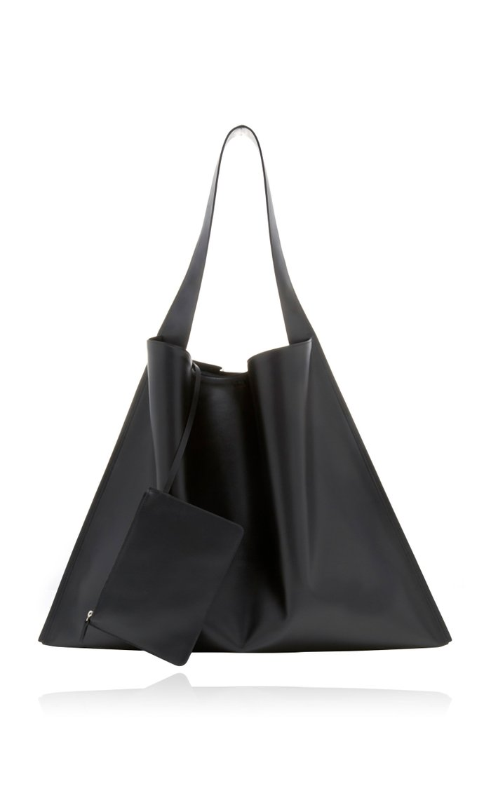 Border Hobo Leather Tote