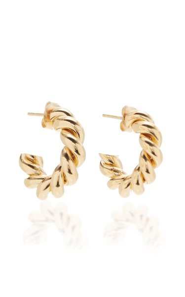 Extra Small Gold-Plated Hoop Earrings