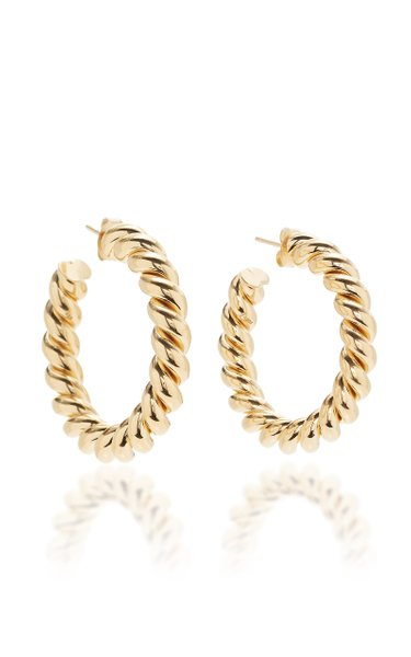 Small Gold-Plated Hoop Earrings