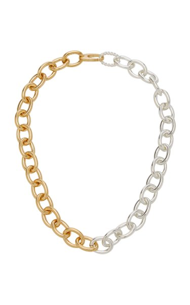 Sterling Silver and Gold-Plated Chain Necklace