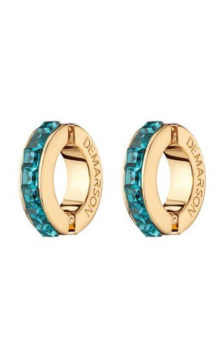 Eden 12K Gold And Crystal Ear Cuffs