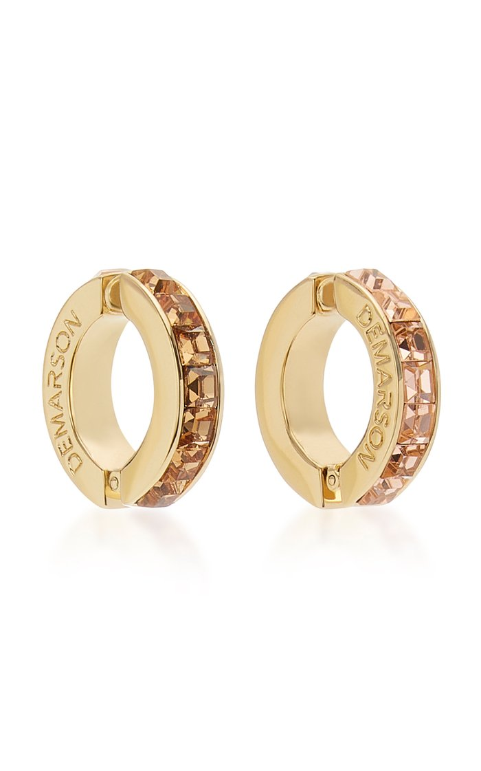 Eden Mismatched 12K Gold And Crystal Ear Cuffs