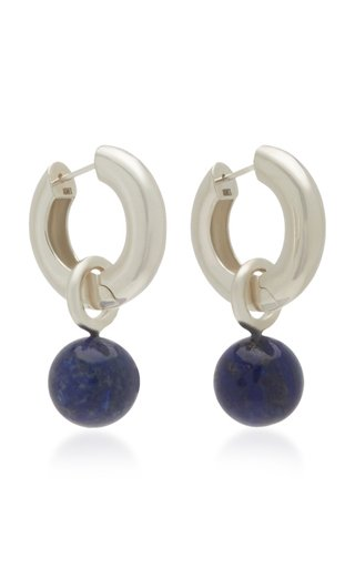 Sterling Silver And Lapis Earrings