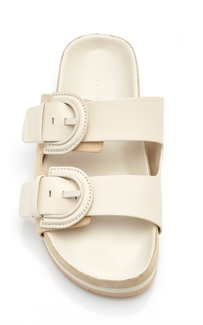 Glyn Suede And Leather Slides