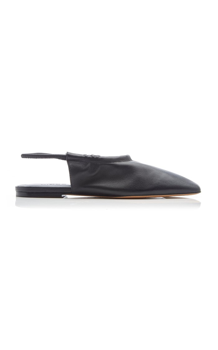 Cadya Leather Slingback Flats