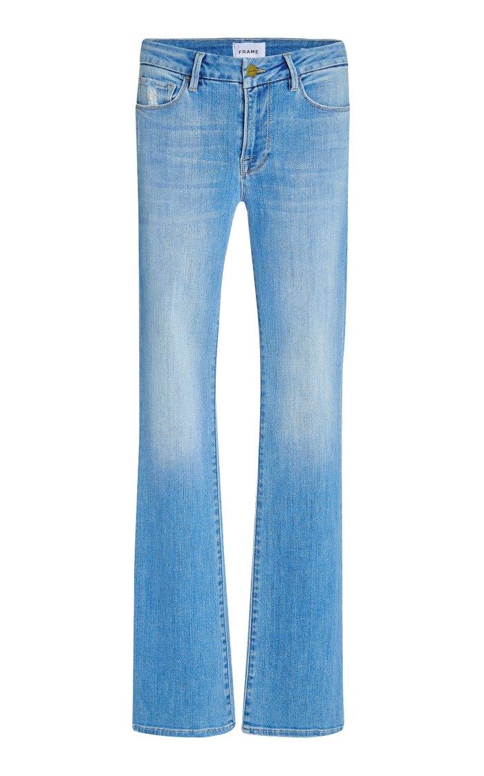 Le Mini Stretch High Slit Bootcut Jeans