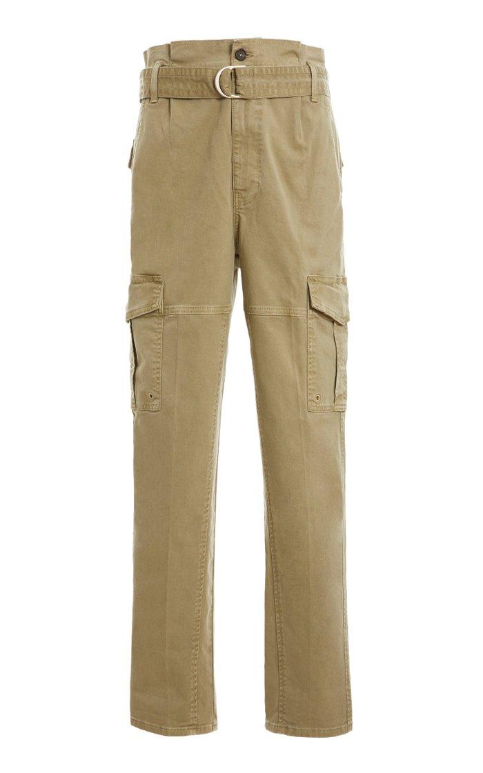 Safari Belted Cotton Cargo Pants
