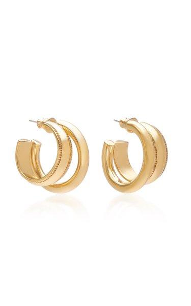Signature Gold-Plated Hoop Earrings