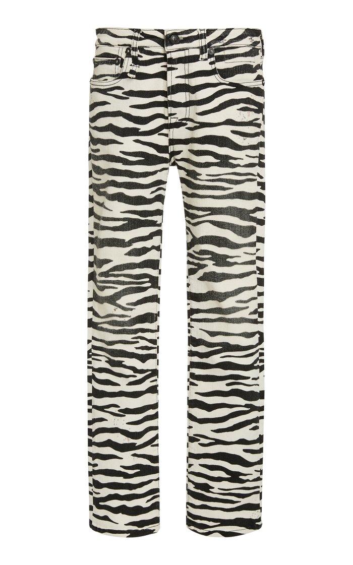 Kick Fit Zebra-Print Jeans