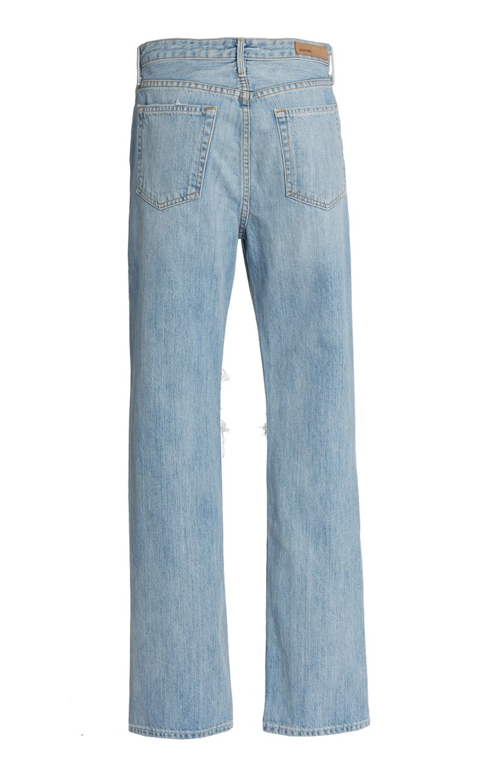 Mica Distressed Rigid High-Rise Straight-Leg Jeans