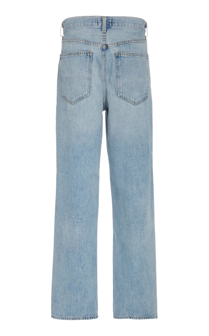 Criss Cross Upsized High-Rise Straight-Leg Jean