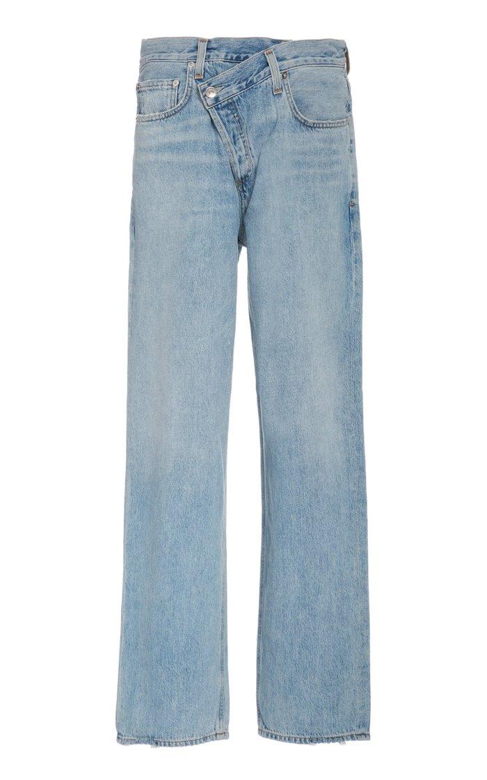 Criss Cross Upsized High-Rise Straight-Leg Jean