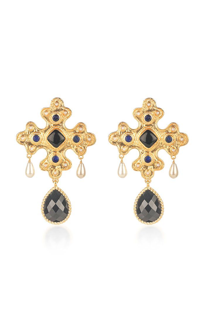 Nicolette Gold-Plated and Multi-Stone Earrings