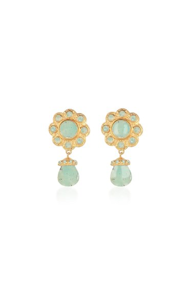Antoinette Gold-Plated and Amazonite Earrings