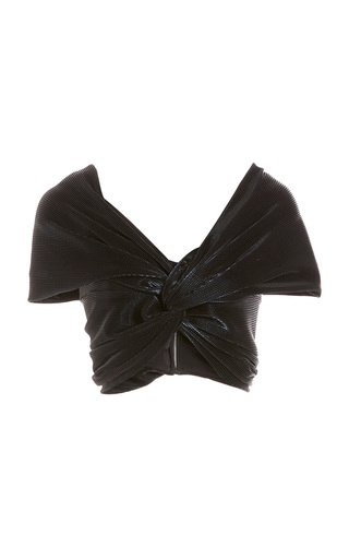 Twist-Detailed Cropped Top