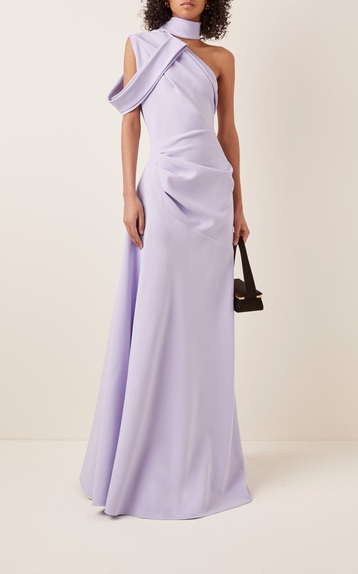 Inclination Crepe De Chine Gown