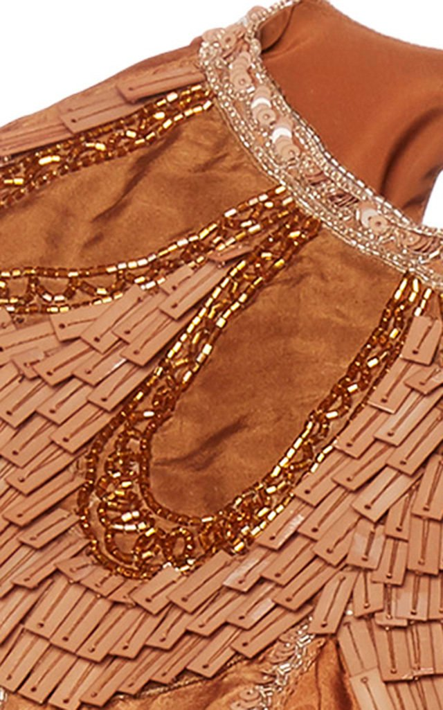 Silk Habotay Crop Top With Embellished Neckline