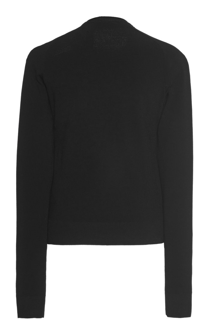 Cutout Ribbed-Knit Sweater