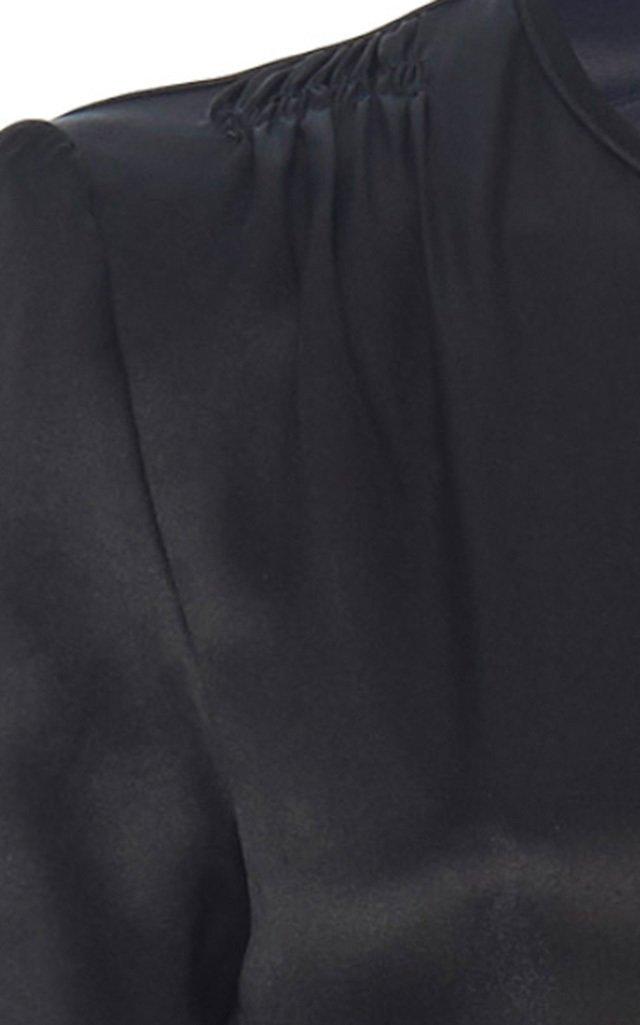 Bow-Detailed Silk  Dress
