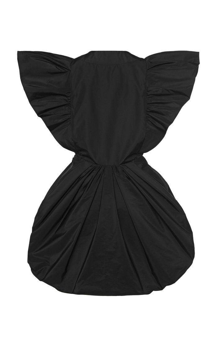 Ruffled Taffeta Mini Dress
