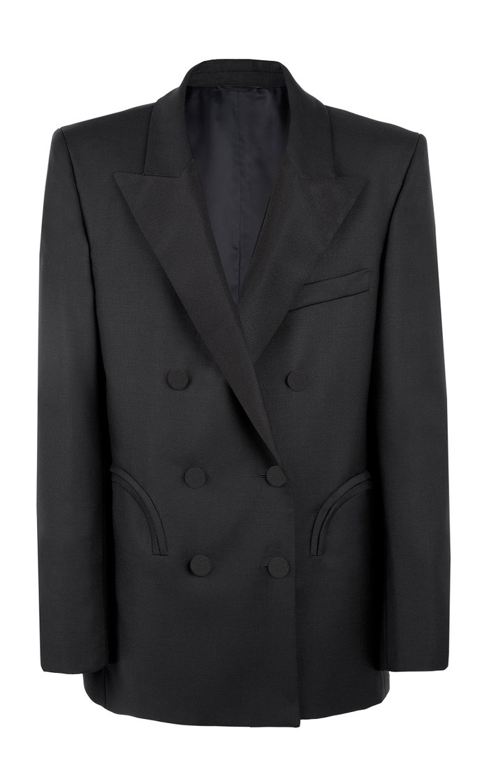 First Class Everynight Double-Breasted Wool-Mohair Blended Blazer
