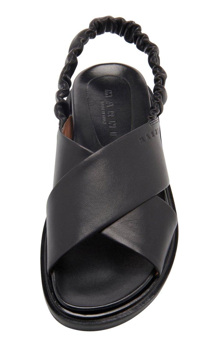 Slingback Leather Sandals