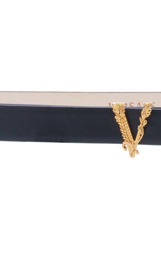 Barocco V Slim Leather Belt