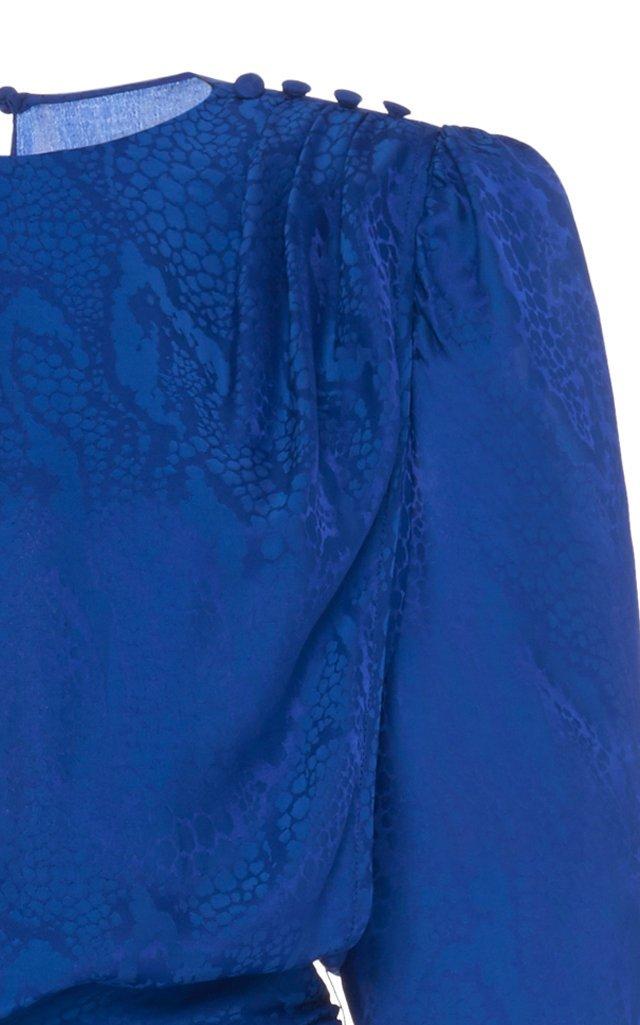 Ruched Silk-Satin Jumpsuit