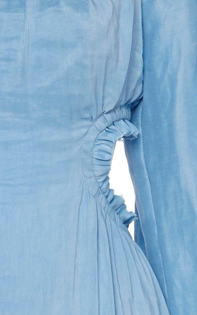 Overture Silk-Linen Blend Midi Dress