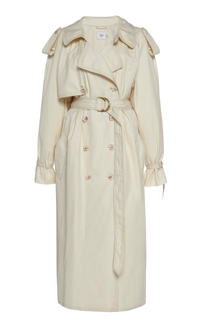 Prima Plissé Trench Coat