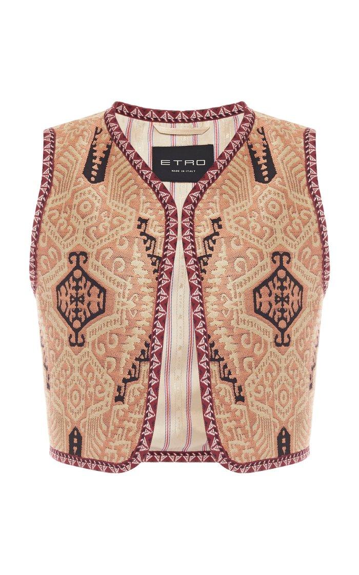 Cropped Jacquard Vest