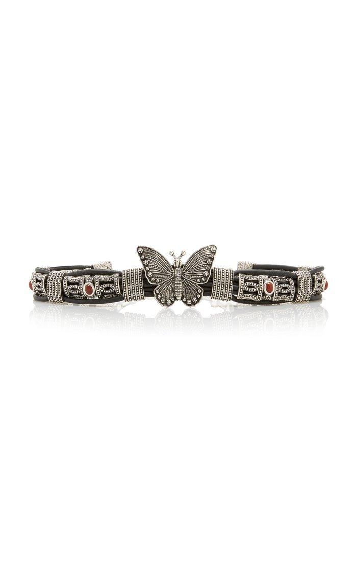 Butterfly Leather Belt