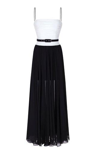 Draped Silk-Chiffon Gown