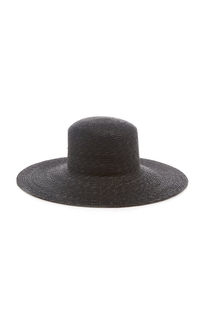 Wide-Brim Straw Hat