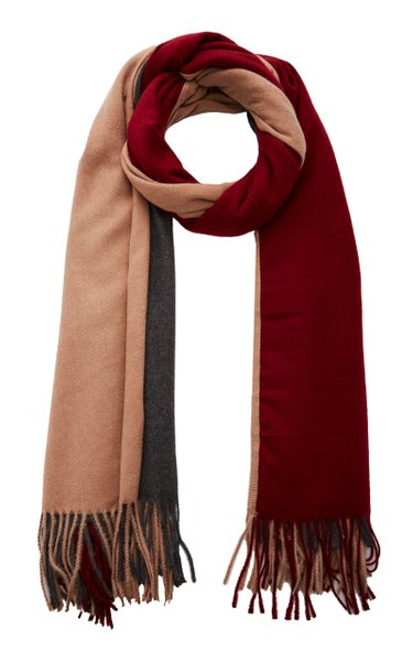Trio Multi-Colored Cashmere-Blend Scarf