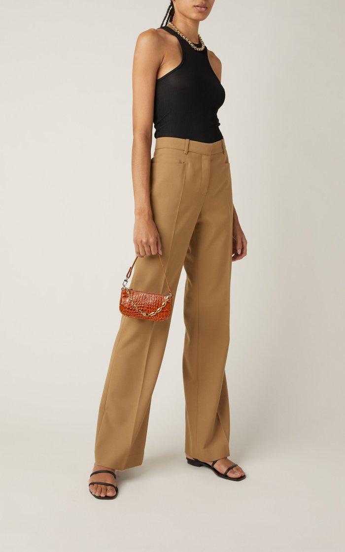 Rachel Mini Croc-Effect Leather Shoulder Bag
