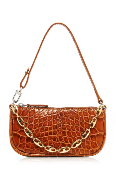 Rachel Mini Croc-Effect Leather Shoulder Bag