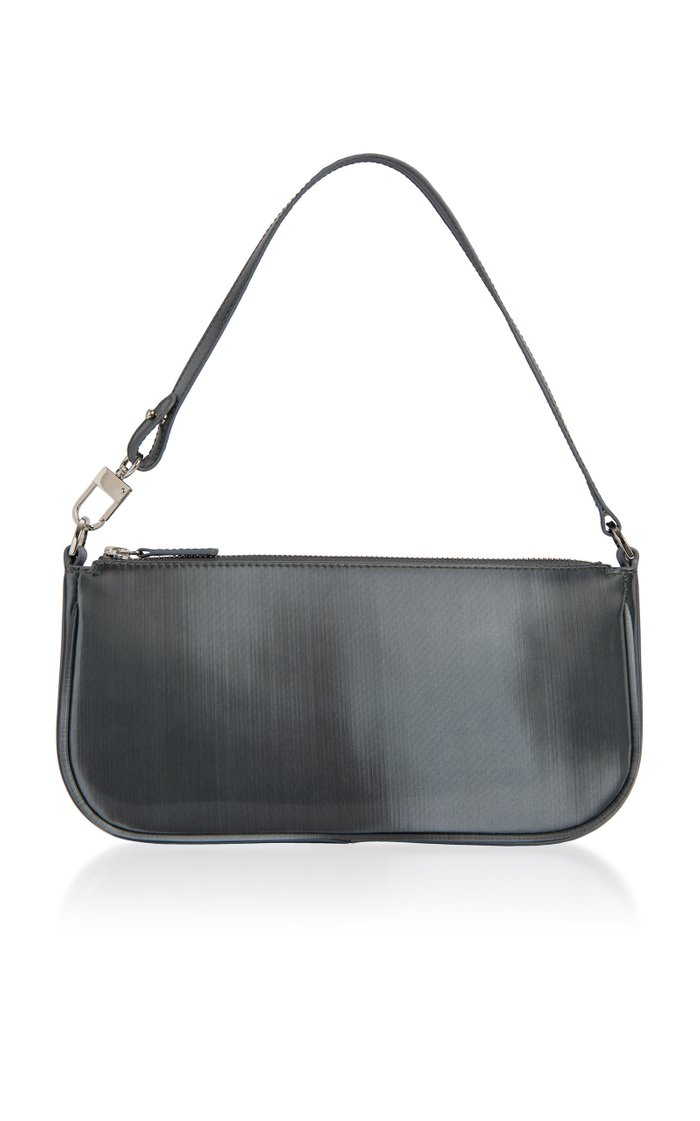 Rachel Graphite Leather Shoulder Bag