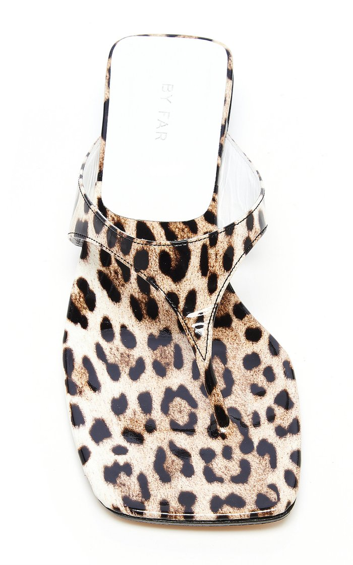 Jack Leopard-Print Leather Sandals