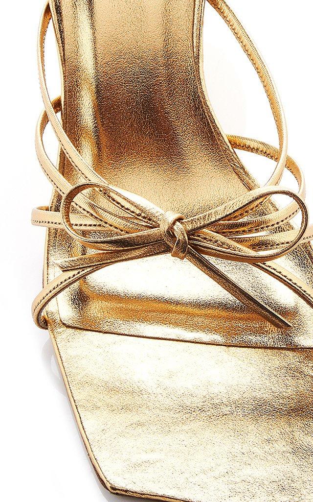 Marissa Metallic Leather Sandals