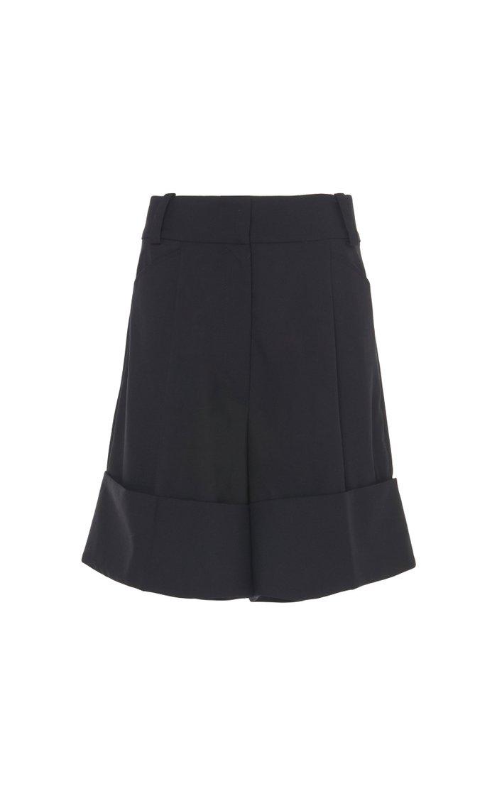 Cuffed Wool Shorts