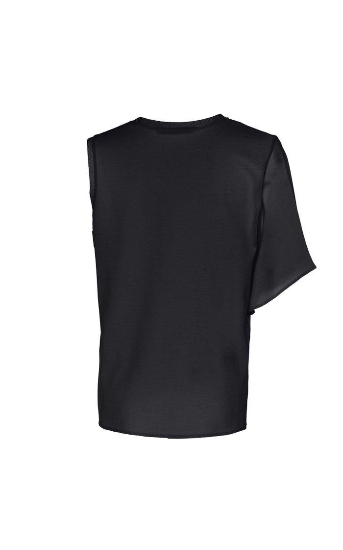 Asymmetric Cutout Stretch-Jersey T-Shirt