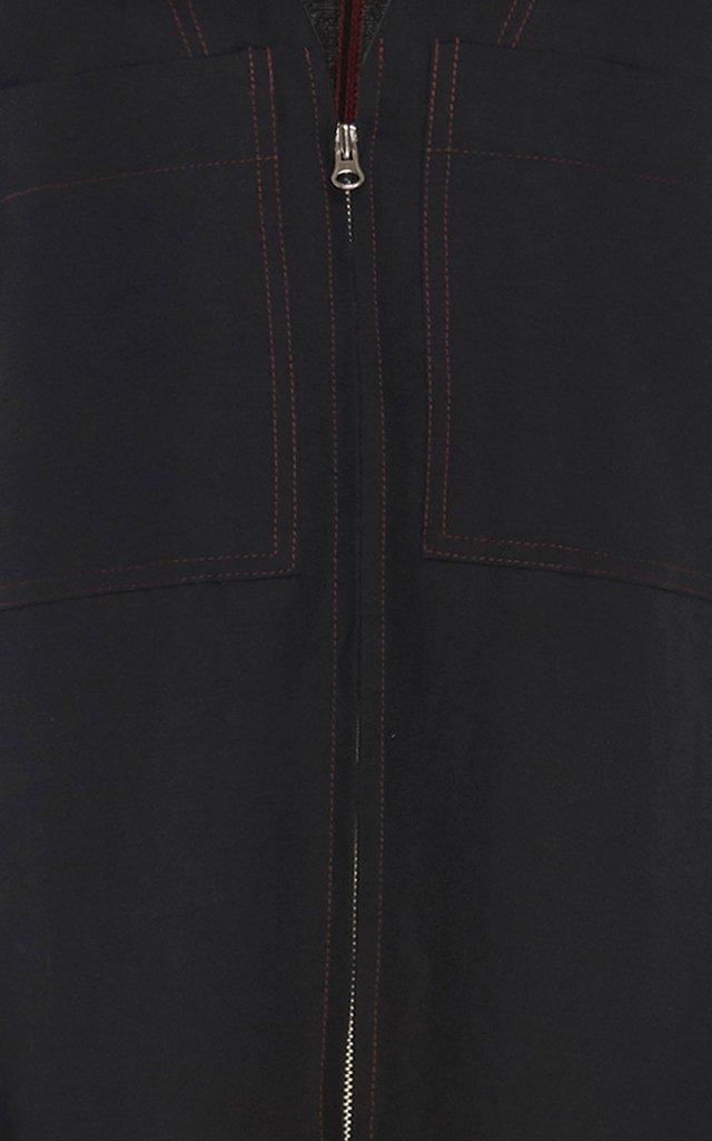 Cotton-Blend Wide-Leg Jumpsuit