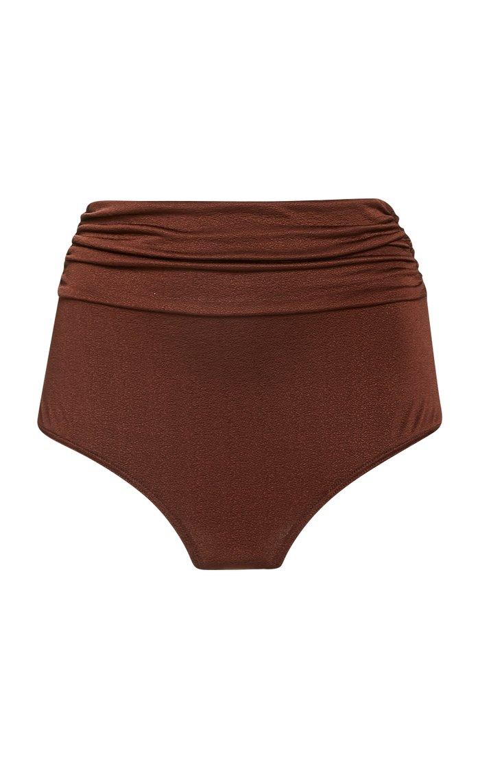 Salinna Ruched Shell Bikini Bottoms