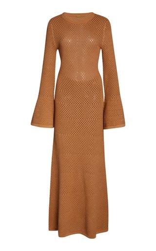 Liz Crochet-Knit Maxi Dress