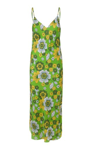 Corinna Floral-Print Silk Dress
